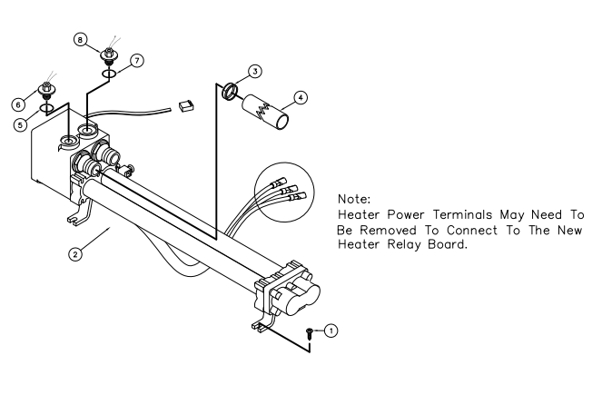 find hot spring 76227 heater assembly titanium