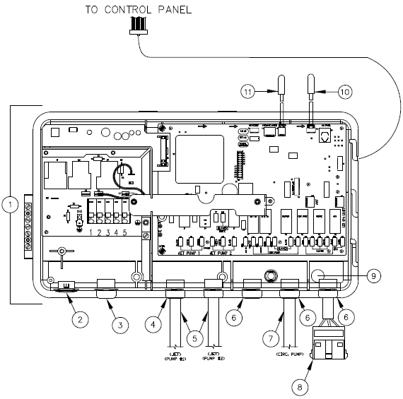 73181 77119 heater relay board caldera spa wiring diagram at bayanpartner.co