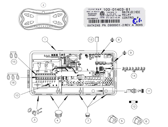 hot spring 74959 control panel rh hottubspasupplies com Hot Tub Electrical Wiring Hot Tub Electrical Wiring