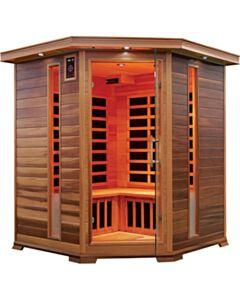 3 to 4 Person Corner Sauna In Red Cedar