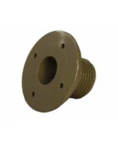 39871 Mini-Jet Wall Fitting Front, Taupe