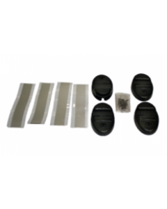 71515 Cover Lock Kit, 4 Sets (Black)