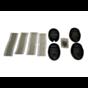71515 Cover Lock Kit, 4 Sets (Black)